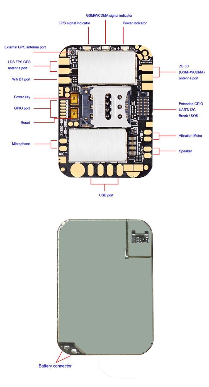 Terbaru ZX810 Terkecil Murah 3G Android Programmable Pelacakan GPS Modul mendukung GSM + WCDMA dan I/O UART GPIO Port