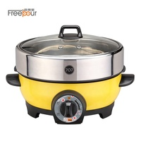 Electric BBQ Cast Aluminium Grill with Non Stick Coating Pan Hot Cooking Pots