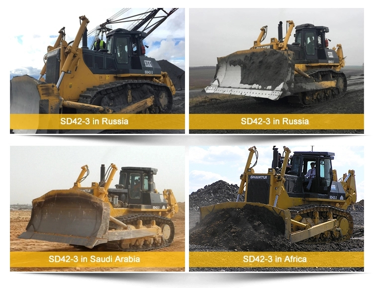 Huge bulldozer high quality China Shantui SD42 420HP Export Tractor with ripper