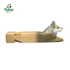 wood carving wolf whistle