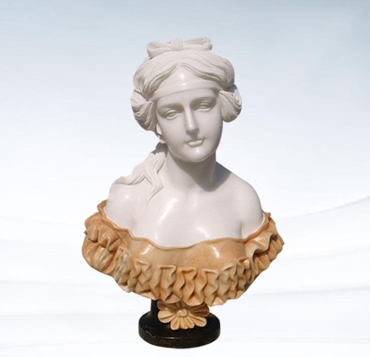 สูงฝีมือยอดนิยมหินแกะสลักหินอ่อนหญิงหน้าอกโรมันประติมากรรม