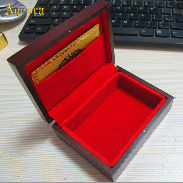Hot sale wholesale accept custom MDF Poker packaging wooden box most popular wooden box high quality Poker packaging box