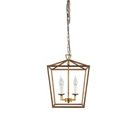 Iron Vintage Lantern 4-light Hallway Entrance Hanging Ceiling Pendant light for home coffee shop