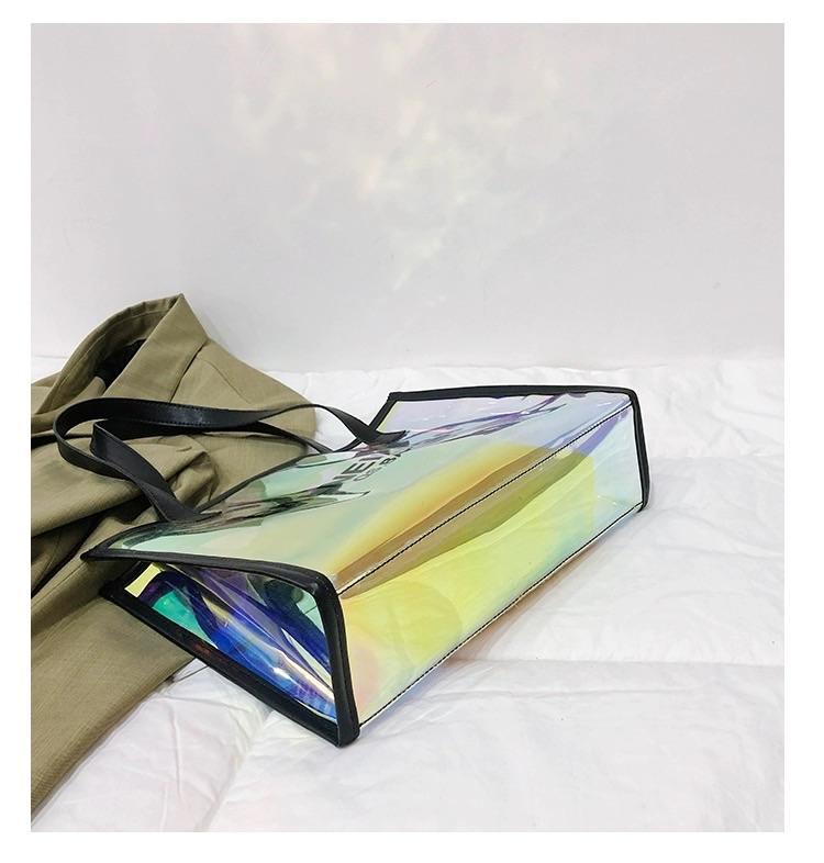 2020 fashion tote bag new design tote bag pvc custom logo holographic bags