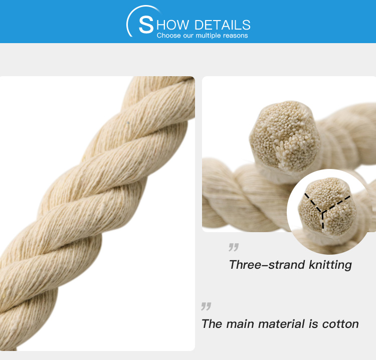 Twist braided 100% natural cotton rope use for packing/decoration