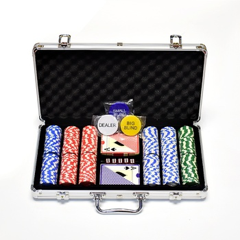 YH 300pcs 14g Color Casino Chips Clay Crown Cheap Poker Chip Set With Case