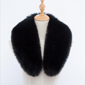 Women winter scarf faux fox fur Collar 50/60/70/80/90cm jackets fur Luxury Scarves Coat decor shawl men scarf