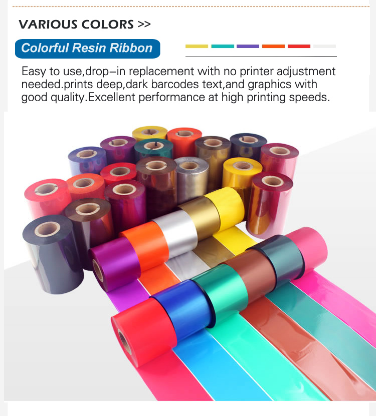 factory supply wax resin barcode ribbon ttr 110x70mm compatible for zebra printer