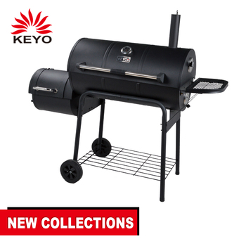 Wholesale Smoked Barbecue Meat Wood Smoking Large Industrial Size Heavy  Duty Bbq Barbecue Pits Smokeless Charcoal Smoker Grills - Buy Smoker Bbq