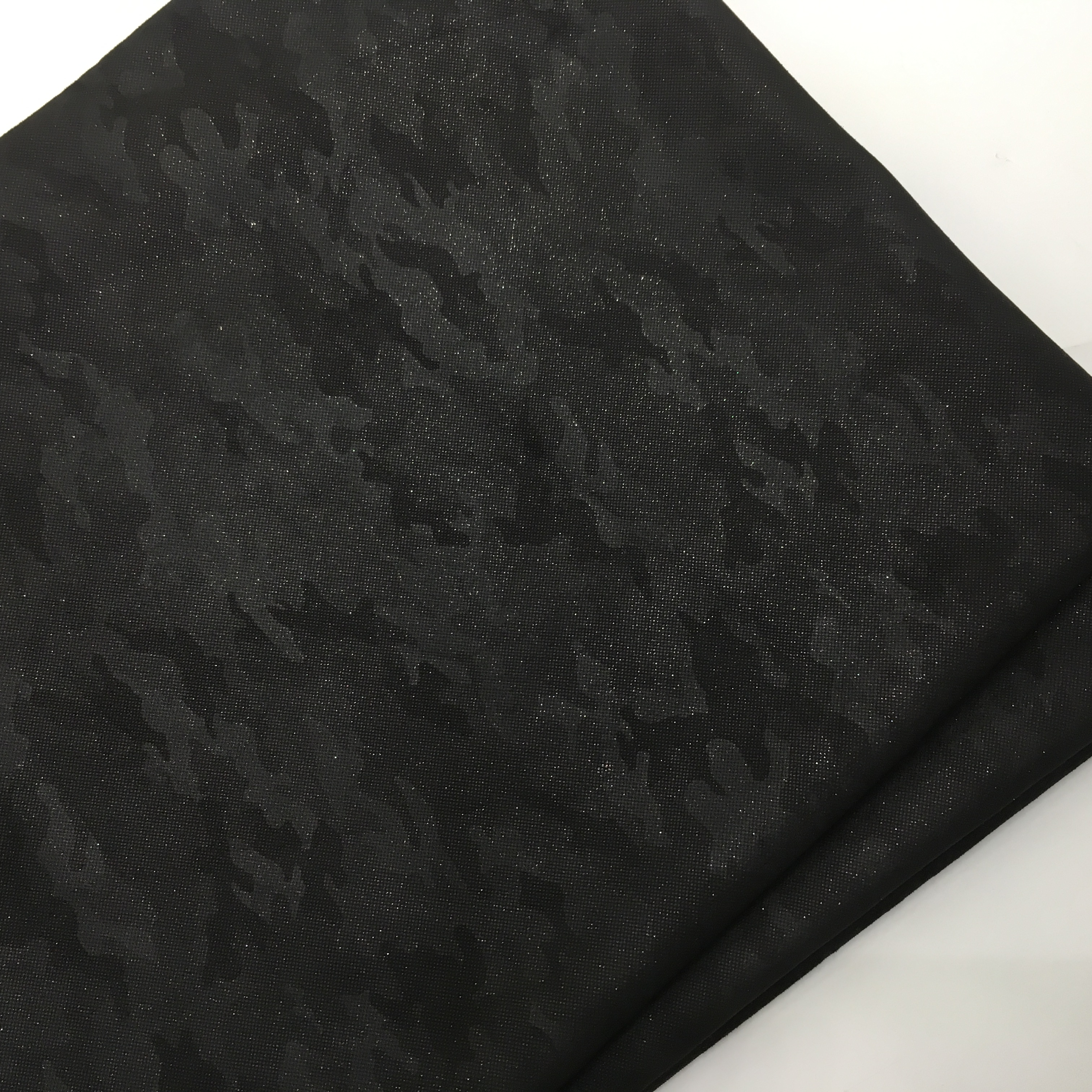 Popular Polyester Black Printed Fabric Garment Jacket Fabric