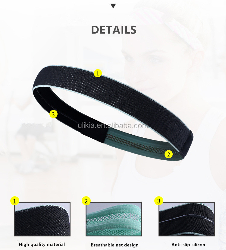 Men Elastic Stretch Headband Sweatband Best For Sports Running
