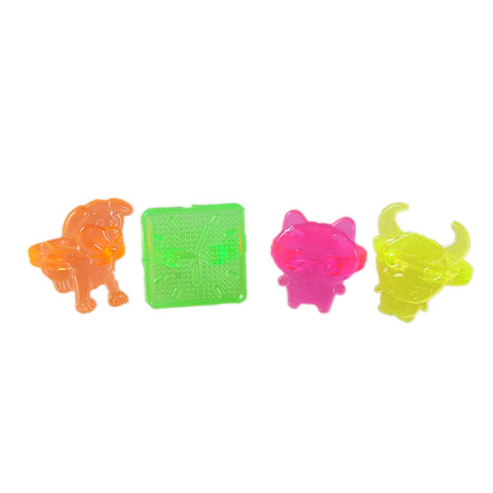 Hot Selling Cheap Mini Funny Diy Animal Plastic Ring Toys For Kids