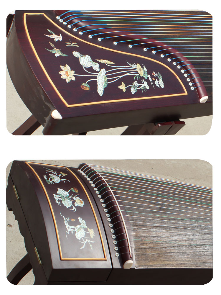 Mahonie Shell Carving Guzheng Met Speciale Palissander