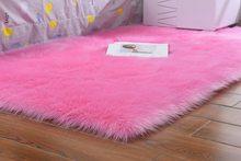 Однотонный меховой ковер для гостиной, скандинавские современные прикроватные коврики для спальни, длинный плюшевый лохматый коврик для с...(Китай)