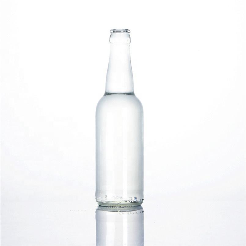 Thả 330 Ml Rõ Ràng Trong Suốt Rỗng Phát Ra Tia Lửa Nước Soda Carbonate Đồ Uống Cocktail Breezer Bia Chai Thủy Tinh Với Nắp