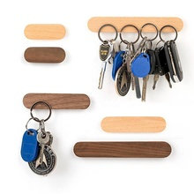 Amazon Top Seller Walnut Magnetik Kayu Magnetic Key Holder untuk Dekorasi Rumah