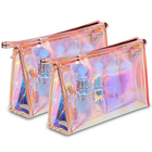 Transparent Plastic Zipper Clear PVC Cosmetic Bag