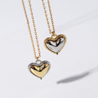 Jewellery Fashion Gold Plated Heart Pendant Necklace For Women Jewellery Gift