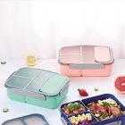 wholesale 1200ml 2 compartment lunch box spoon BPA free leak-proof 4 locks food safe plastic portable outdoor school student kid