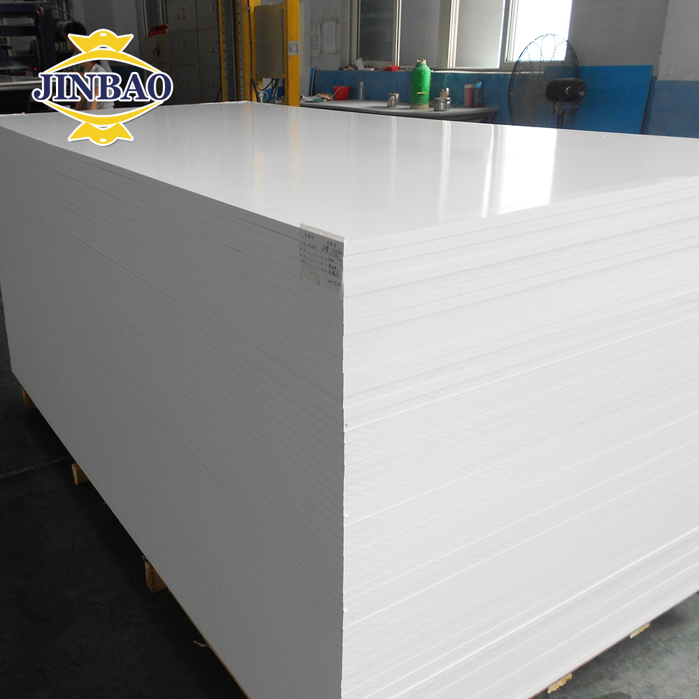 JINBAO 4'x8' 10---18mm pvc material white high quality thick pvc foam sheet for cabinets