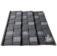 Kenya Nigeria Ghana Decras Roofing Tiles Charcoal Color Stone Coated Aluminium Zinc Metal Roofing Sheet