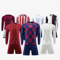 Thailand Quality Football Shirt Customized Long Sleeve Soccer Jersey Sets