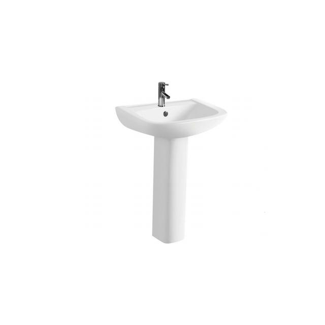 Pure White Ceramic Pedestal Sink