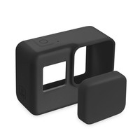For Go Pro Accessories Action Camera Case Protective Silicone Case Skin +Lens Cap Cover For GoPro Hero 5 6 7 Black Hero C