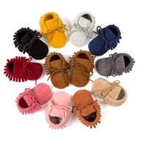 New Soft Sole baby shoes Moccasin girls Baby First Walker Shoes Toddler PU Leather Non-Slip Newborn Infant Shoes For 0-24Mos