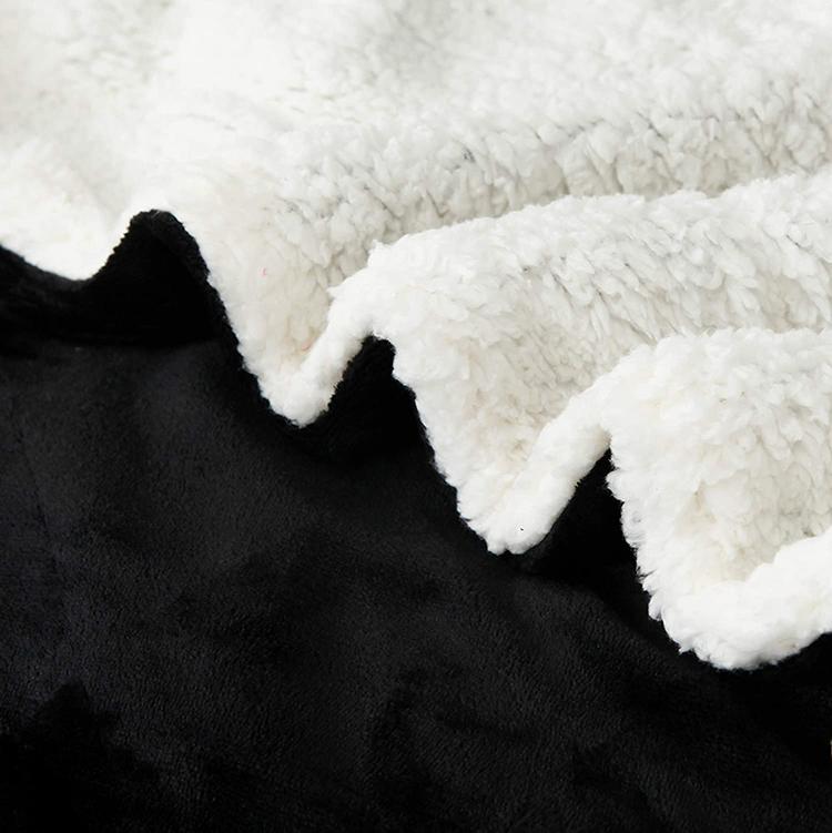 Manta de tiro de lana de cordero