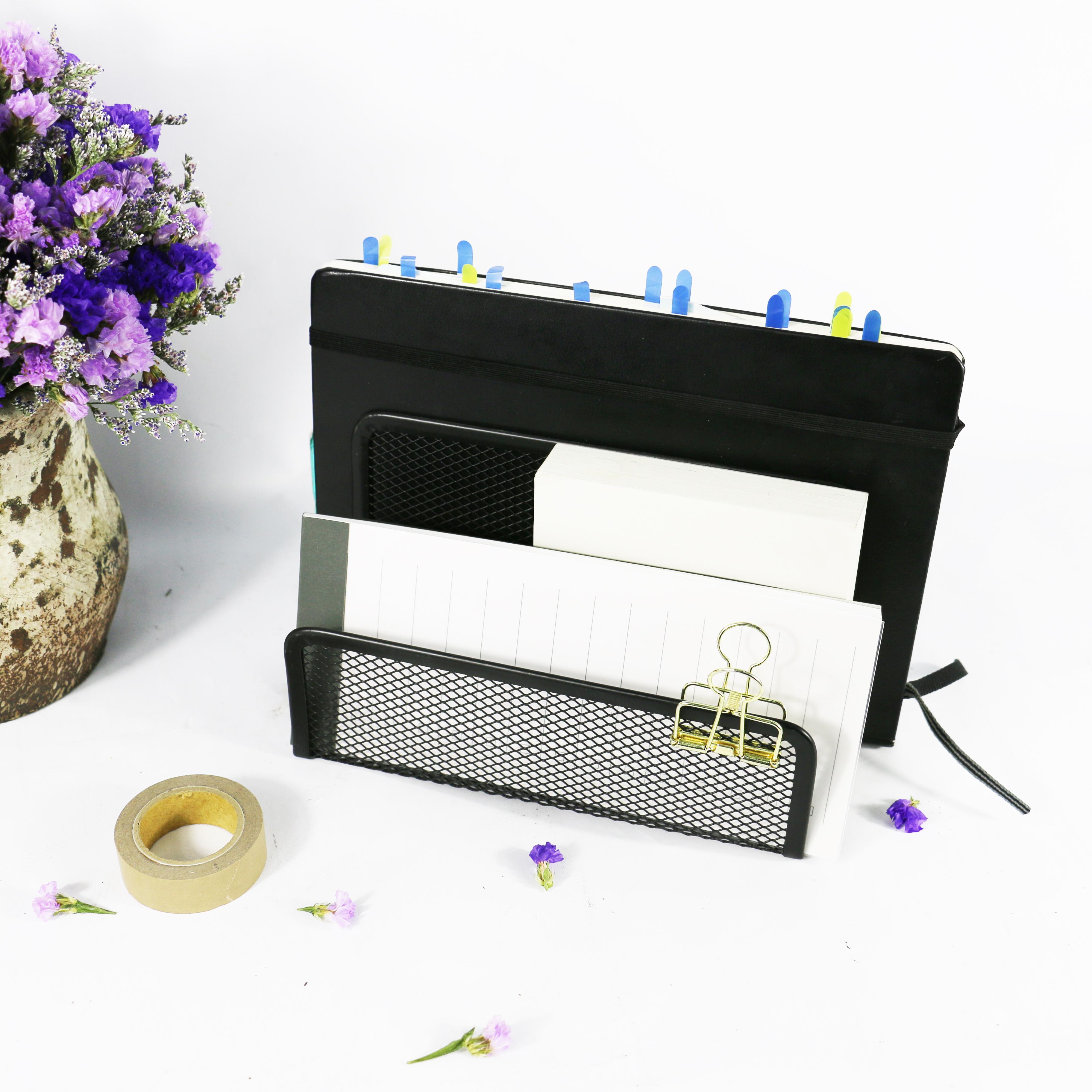 3unit Stationery Products mesh metal letter holder for desk organizer