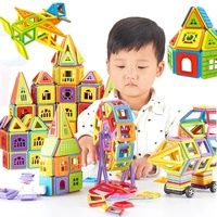 Educational Toys 204 PCS Magnetic Construction Building Blocks Set For Kids