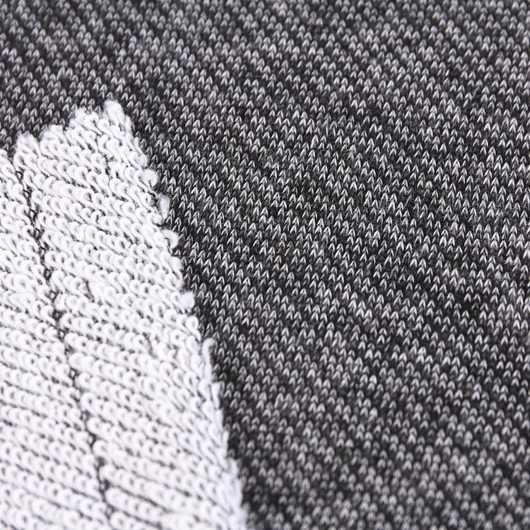 Rugueux boucle à tricoter hiver tricoté coton d'ameublement double piqué tricoté tissu