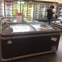 2.1m 1.8m -18degrees Commercial Combined Supermarket Island Display Deep Freezer
