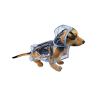 Wholesale Transparent Waterproof Dog Apparel Waterproof Large Pet Dog Raincoat for Dog