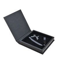 luxury linen leather wooden Photo Album Packaging Gift box for wedding