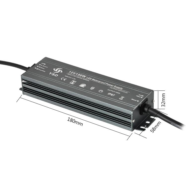 IP67 led circuit board 24V 12V 150W street light led driver