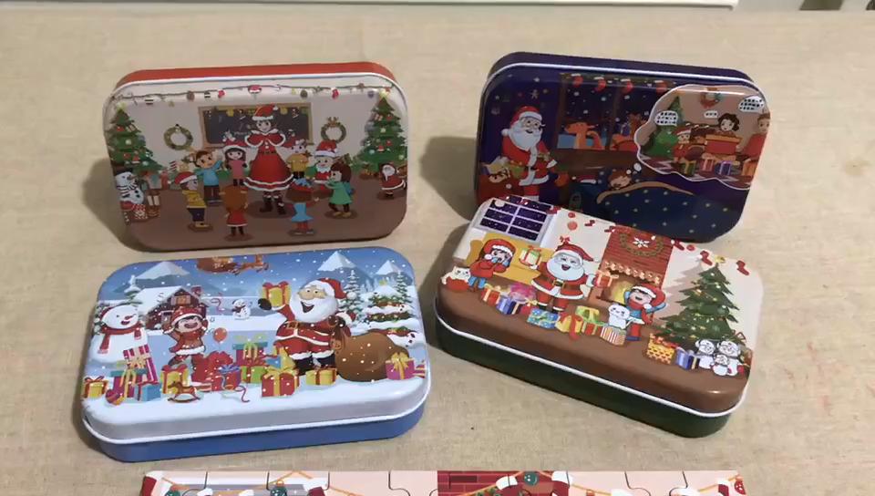 Kerst Houten Diy Gift Kinderen Handgemaakte Kerst Decoratie Puzzel