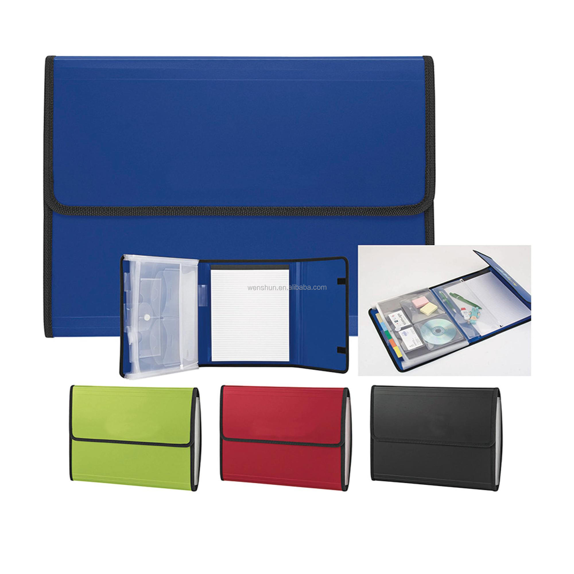 Promotional Plastic PP Material Pocket Expanding File Folder With Sewing Edge