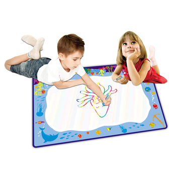 Kids Games Education Floor Water Drawing Doodle Mat With 26 ...