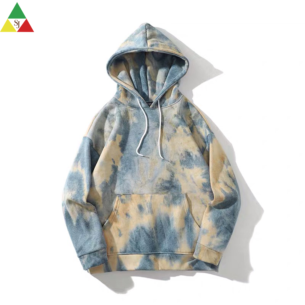 blank pullover tie dye high fashion hoodie