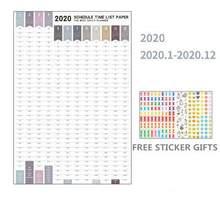 Настенный бумажный календарь на 2020 год, ежедневник на 365 дней, записки от Apirl Count 52*76 см, размер, предоставленный Kevin & Sasa Crafts(Китай)