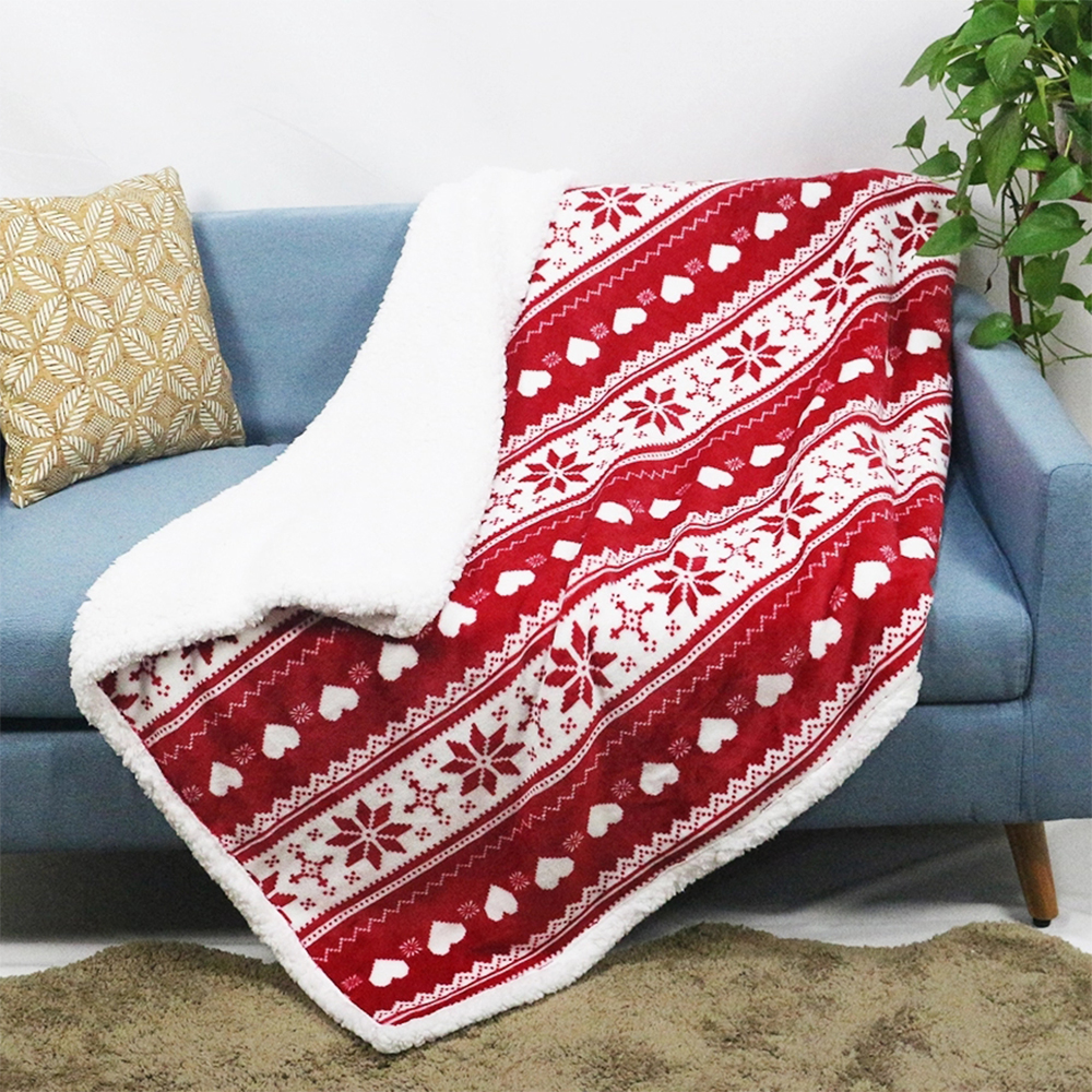 De cama edredón conjunto Cordero caliente de lana de bebé cama sherpa Manta