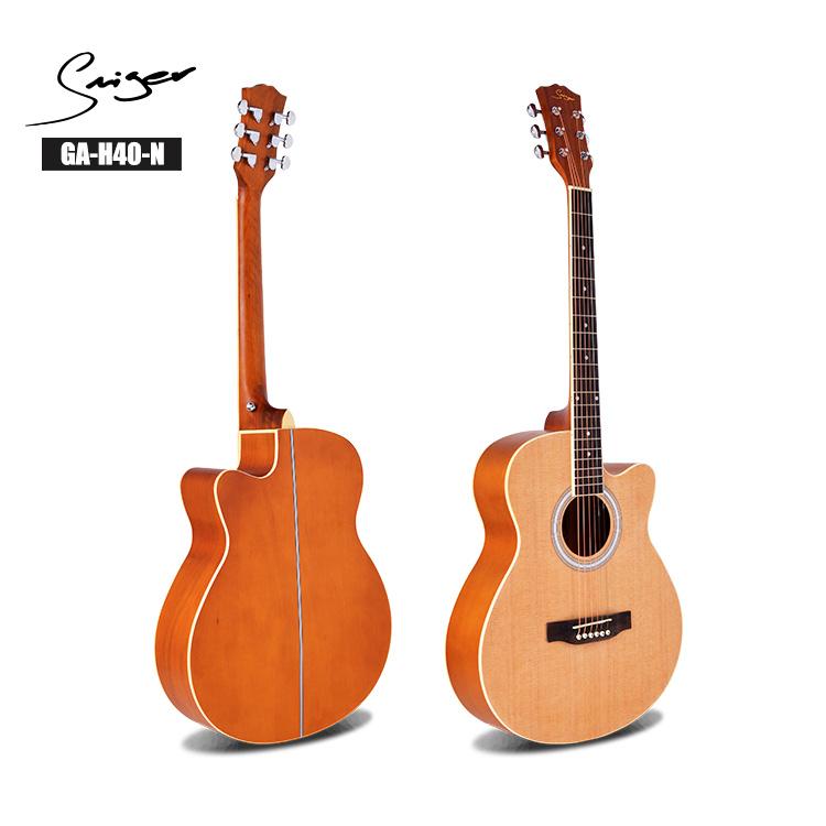40 41 дюймов sapele Топ литая головка-машина матовая отделка начинающих студентов Акустическая гитара