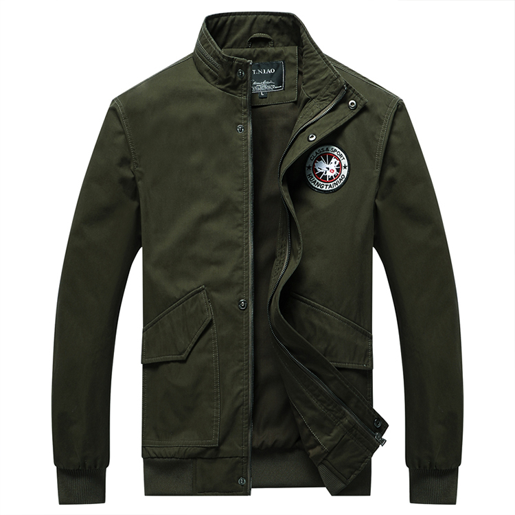 new design Minimalistic <strong>style</strong> smart casual <strong>military</strong> army cotton men <strong>jacket</strong>