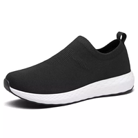 Hot Selling Comfortable Breathable Knit Sport Agedness Old Age Walking Running Shoes