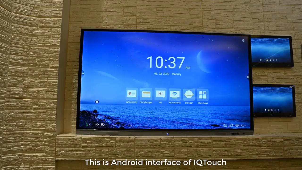 65 75 86 дюймов умный сенсорный экран с android и оконной системой