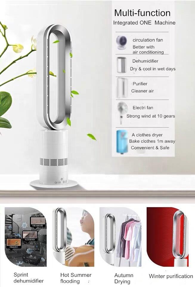 Trip -over Protection Flame Retardant Material 2000W PTC Ceramic Hot yoga Electric Room Desktop bladeless Fan Heater
