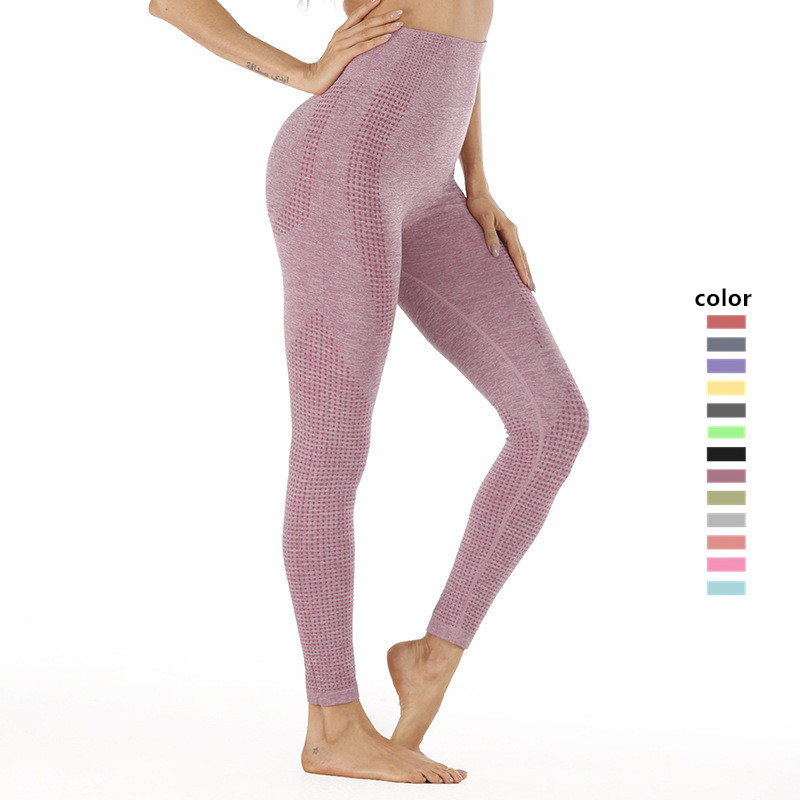 Frauen yoga gym hohe taille workout fitness scrunch butt mesh lift hosen leggings