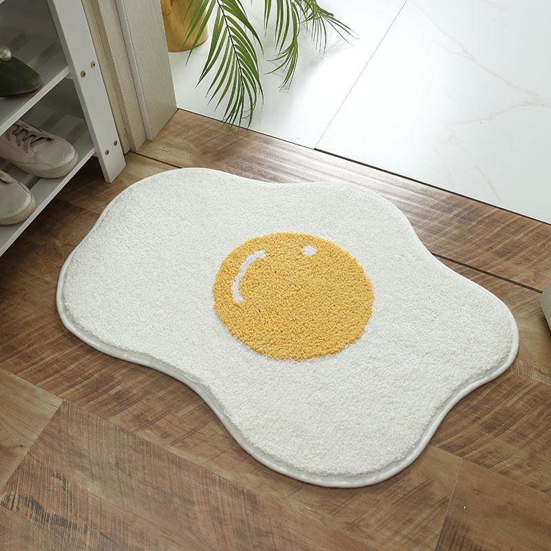 البيض على شكل ستوكات النسيج المضادة للانزلاق المياه ماصة منشفة الحمام